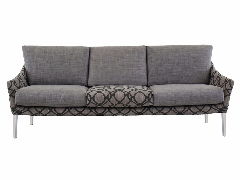 3 seater fabric sofa with removable cover CROSS I195 - Segis
