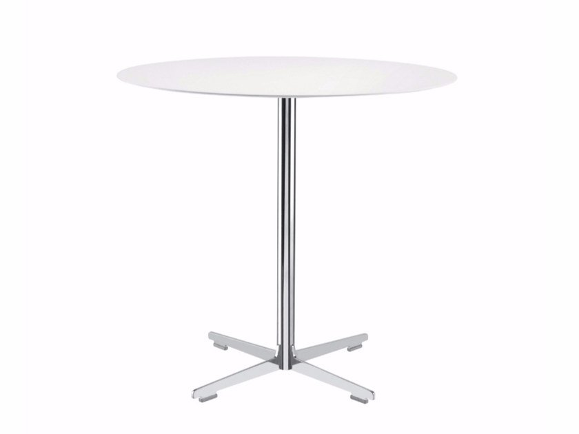 Round table with 4-star base CROSS TABLE - 572 | Table - Alias