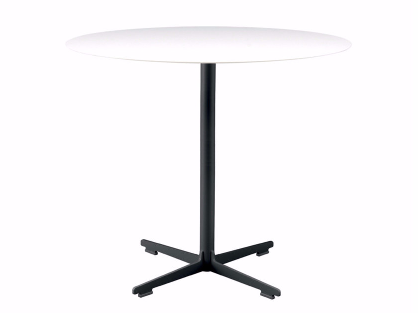 Round table with 4-star base CROSS TABLE - 573 | Table - Alias