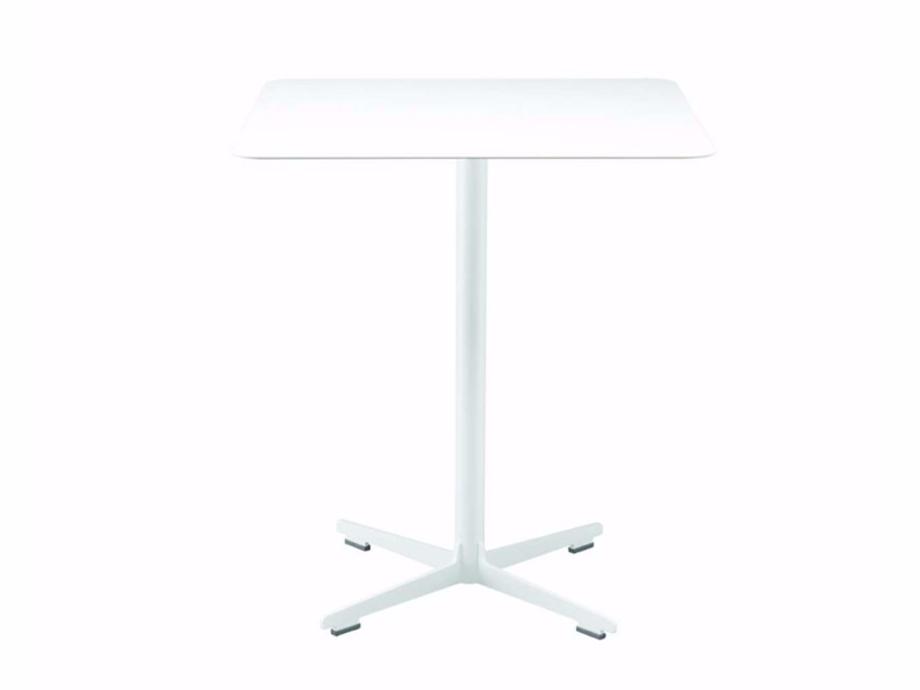 Square table with 4-star base CROSS TABLE - 574_O | Table - Alias
