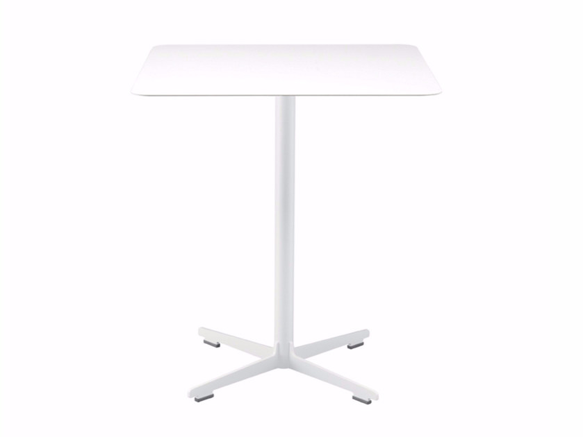 Square table with 4-star base CROSS TABLE - 574 | Table - Alias