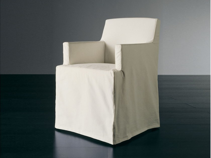 Upholstered chair with armrests CRUZ | Chair with armrests - Meridiani
