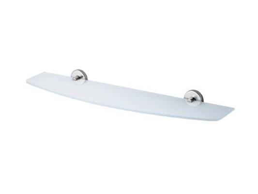 Crystal bathroom wall shelf INOX | Crystal bathroom wall shelf - INDA®