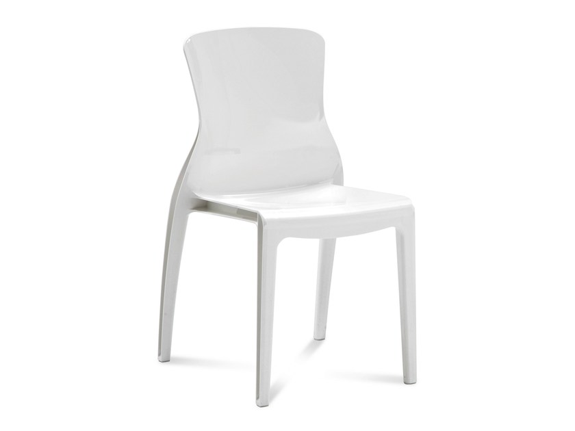 Plastic garden chair CRYSTAL - DOMITALIA
