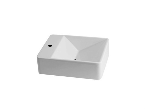 Rectangular wall-mounted washbasin VANITY WASHBASINS | Rectangular washbasin - Olympia Ceramica