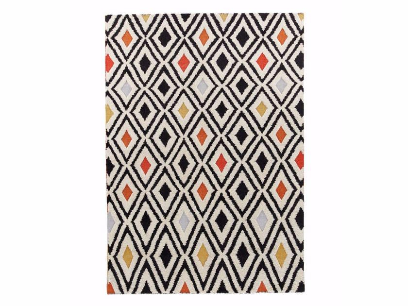 Wool rug with geometric shapes CRYSTAL VOL.II by miinu