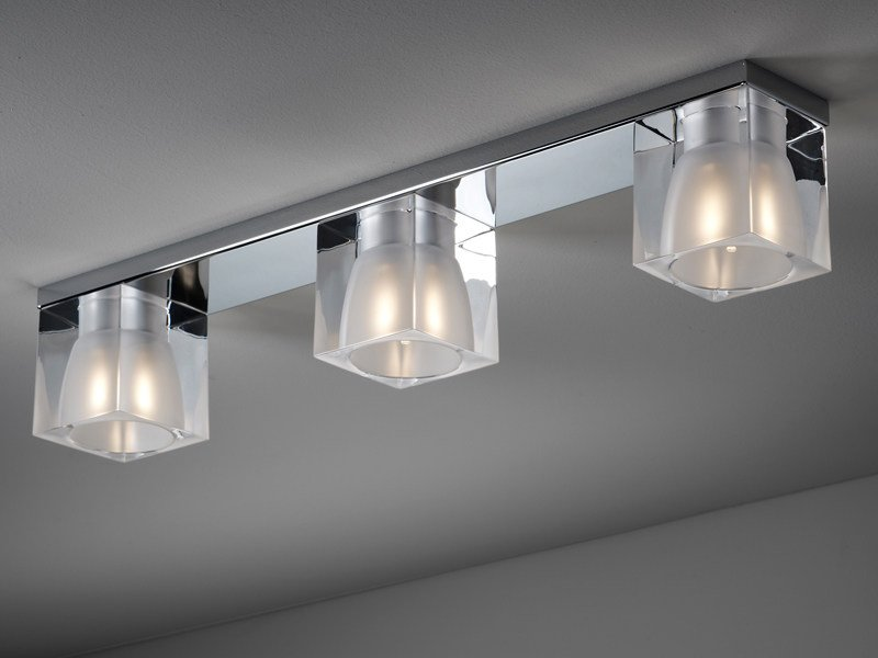 Crystal ceiling lamp CUBETTO | Ceiling lamp by Fabbian