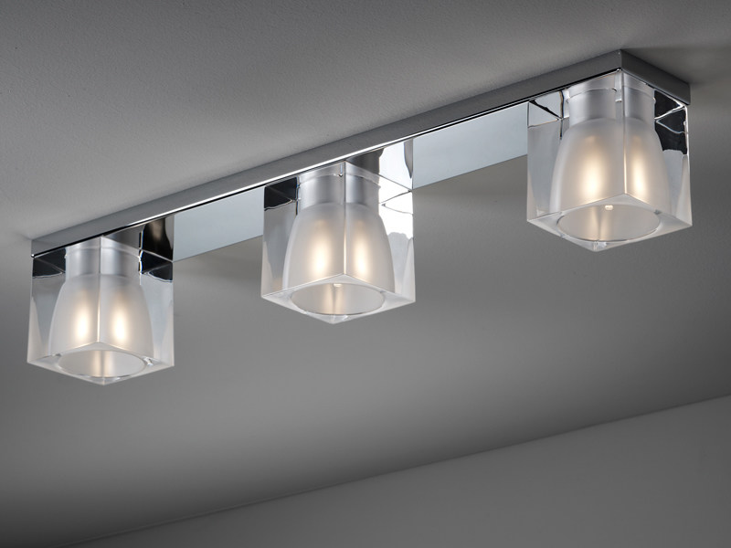 Crystal ceiling lamp CUBETTO | Ceiling lamp - Fabbian