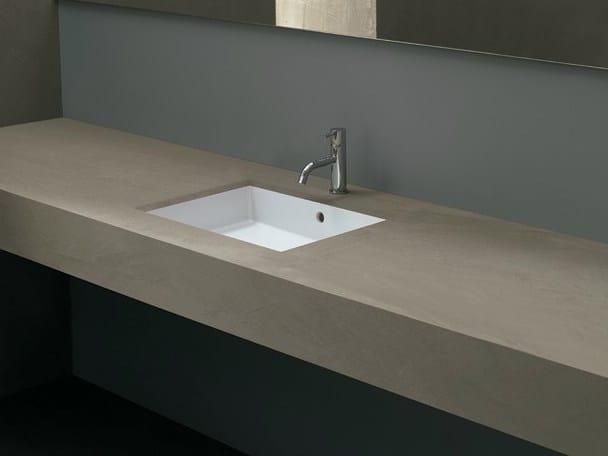 Undermount rectangular ceramic washbasin CUBIC 50 - Alice Ceramica