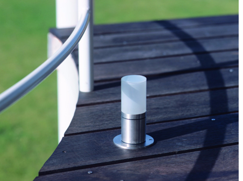 Stainless steel bollard light for Public Areas CUBIX FL - BEL-LIGHTING
