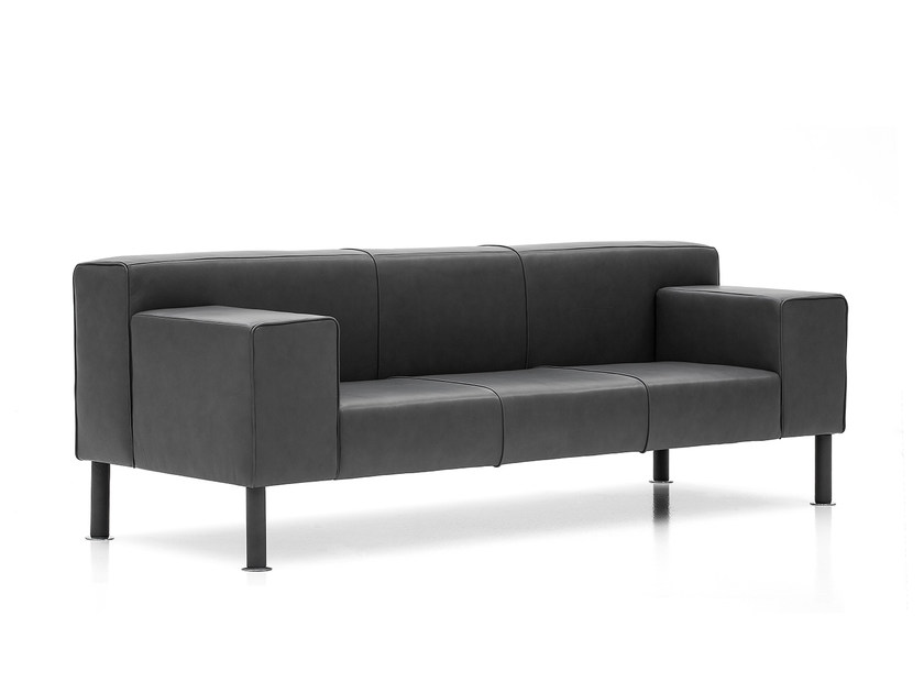 3 seater leather sofa CUBO by Polflex