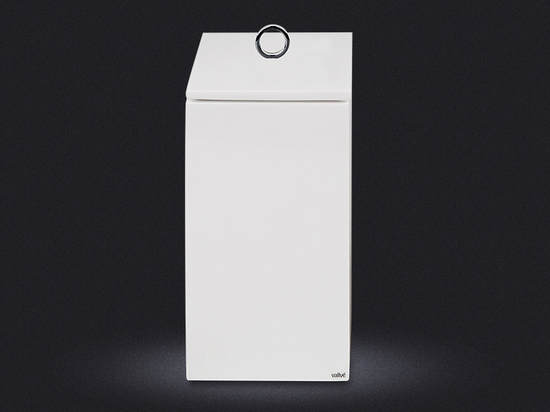 Resin bathroom waste bin CUBO LARGE | Bathroom waste bin - Vallvé Bathroom Boutique
