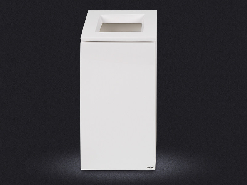 Resin bathroom waste bin CUBO LARGE | Resin bathroom waste bin - Vallvé Bathroom Boutique