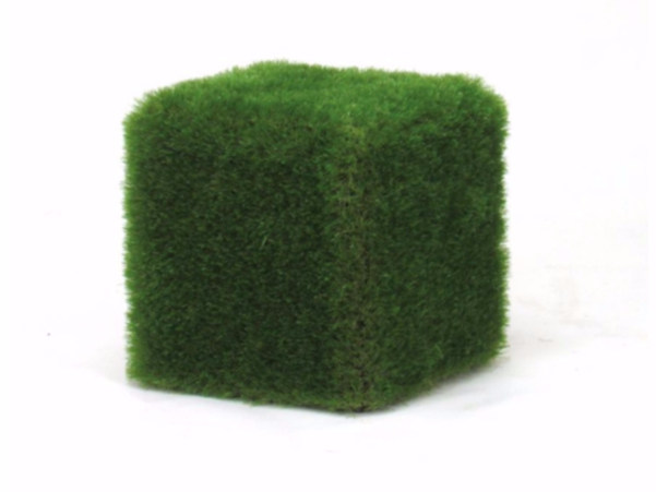 EPS outdoor chair covered with synthetic grass CUBOTTO by Cabox