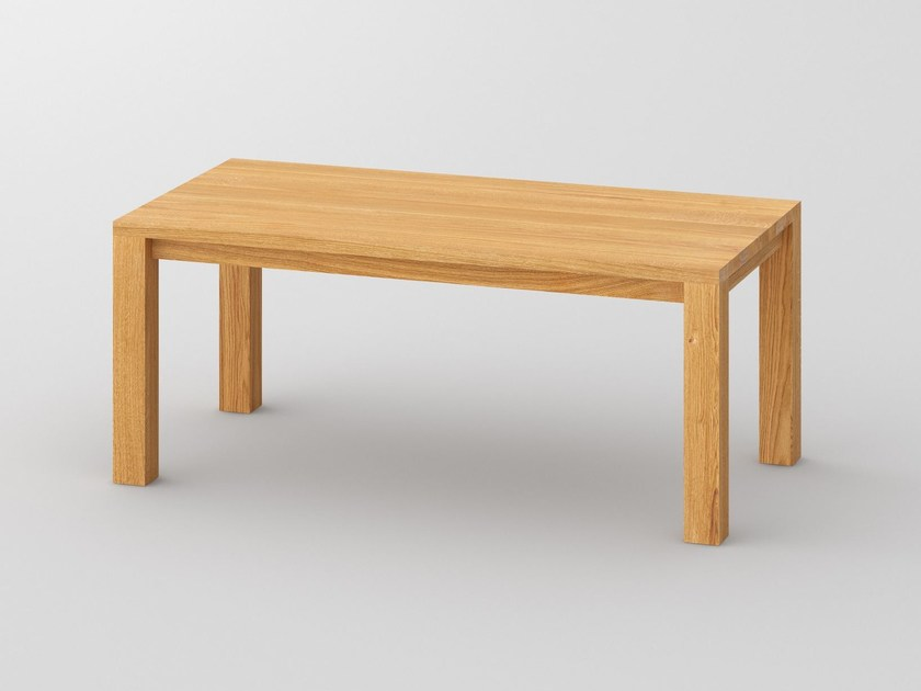 Extending rectangular solid wood table CUBUS | Extending table - vitamin design