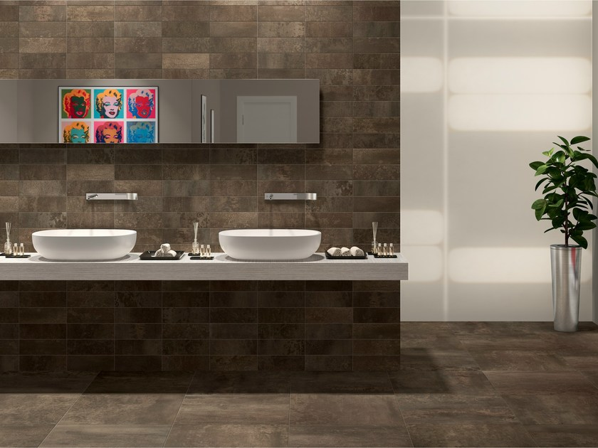 Porcelain stoneware wall/floor tiles with metal effect CULT OXYDE by EDIMAX CERAMICHE