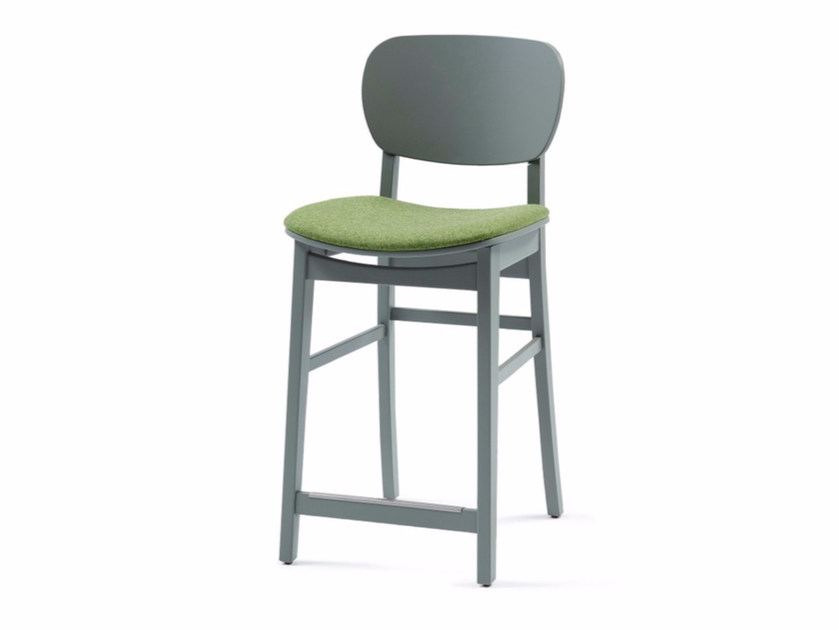 Fabric counter stool with footrest CUP CUP 01 KL62 - Z-Editions