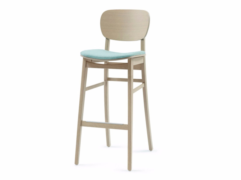 Upholstered fabric counter stool with footrest CUP CUP 01 KL82 - Z-Editions