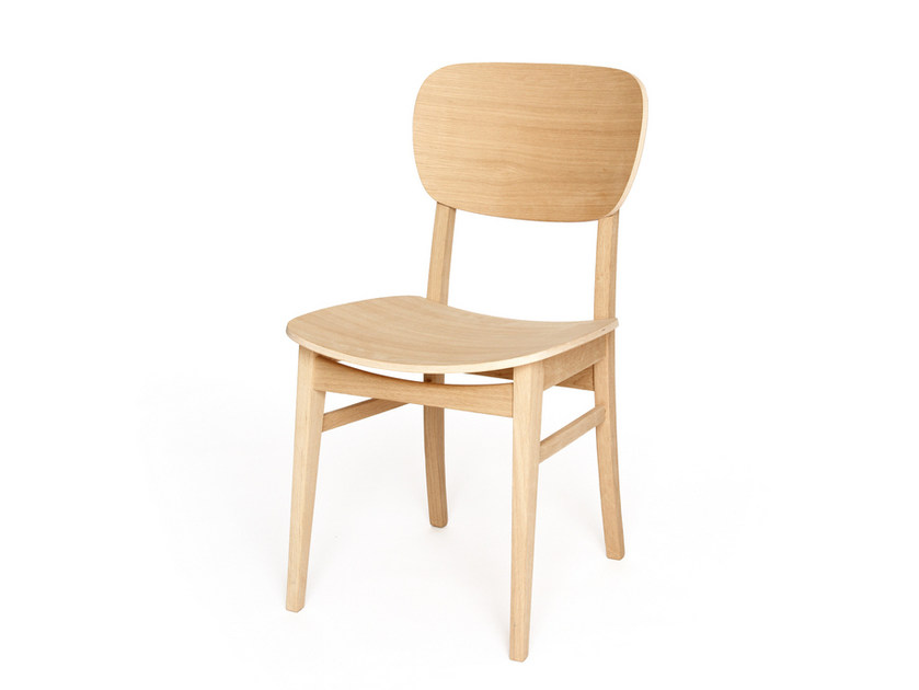 Wooden chair CUP CUP by Z-Editions