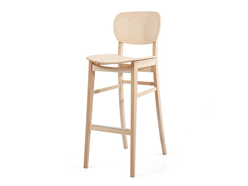 Sedia alta in legno con poggiapiedi CUP CUP KL82 - Z-Editions