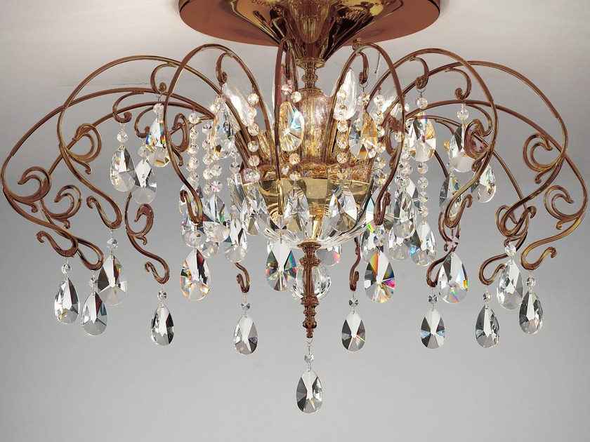 Direct light metal ceiling lamp CURLI | Ceiling lamp by Masiero