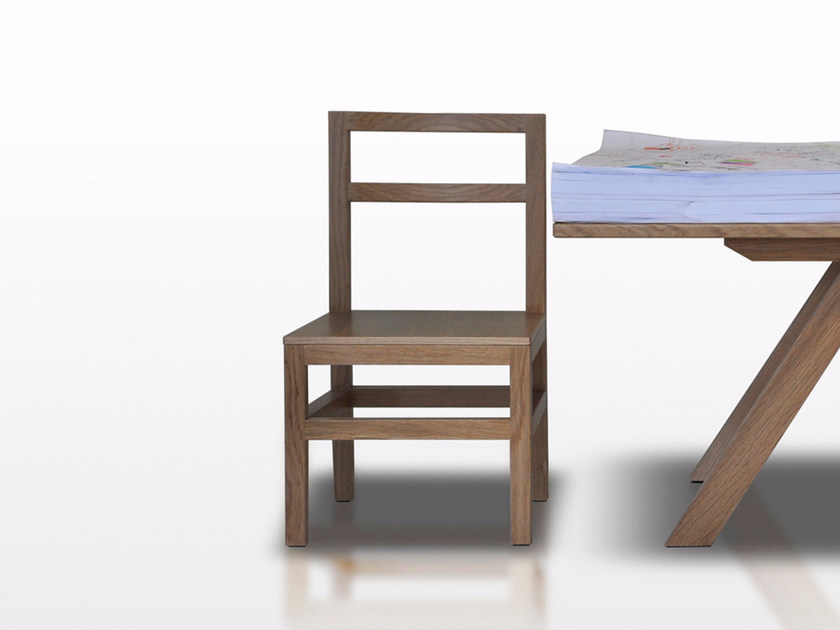 Ash kids chair CUSCINO by Paolo Castelli