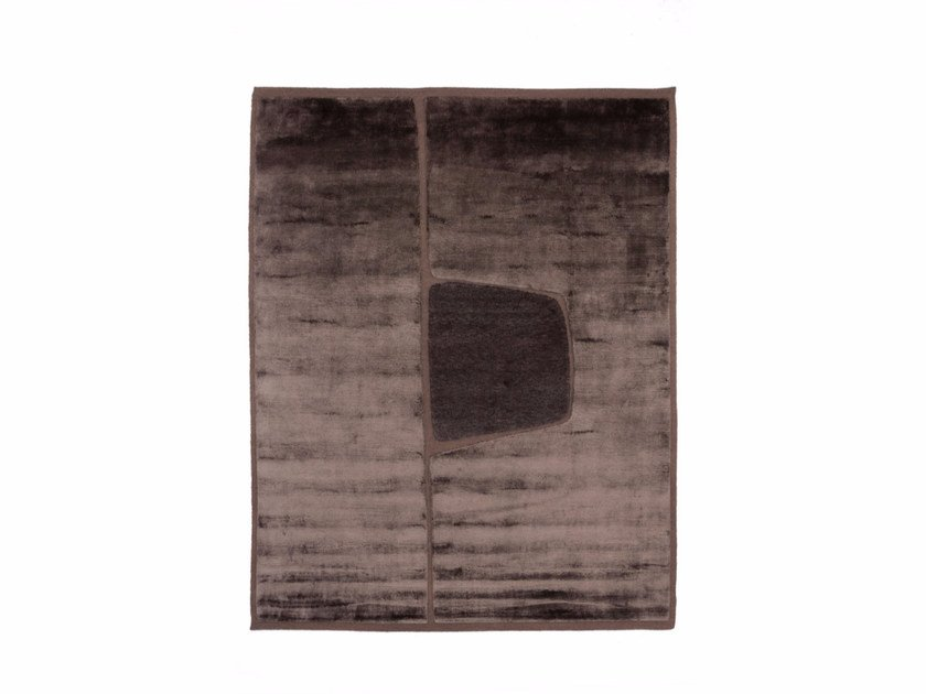 Handmade rectangular rug CUT OUT MONOCROMO - cc-tapis ®