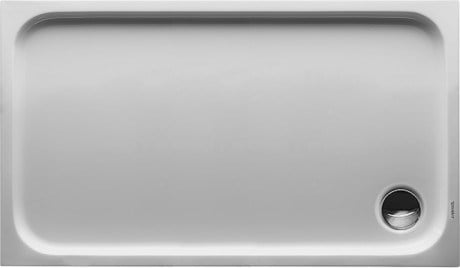 Rectangular acrylic shower tray D-CODE | 120 x 70 - DURAVIT