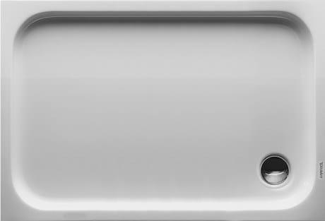Rectangular acrylic shower tray D-CODE | 120 x 80 - DURAVIT