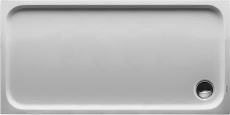 Rectangular acrylic shower tray D-CODE | 140 x 70 - DURAVIT