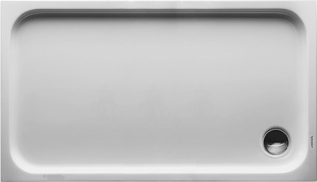 Rectangular acrylic shower tray D-CODE | 130 x 75 by Duravit