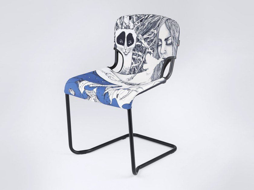 Cantilever chair D-LIGHT ALICE IN WONDERLAND by KUBIKOFF