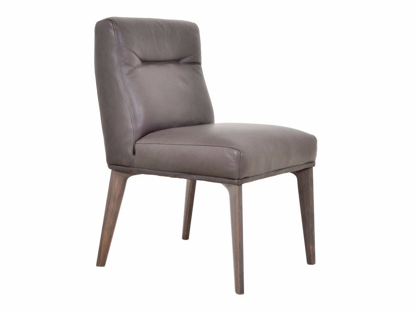 Upholstered leather easy chair D-LIGHT - KFF