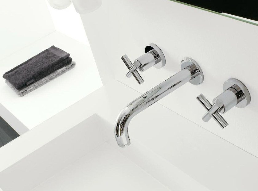 3 hole wall-mounted washbasin tap DA-DA | Wall-mounted washbasin tap - ZAZZERI