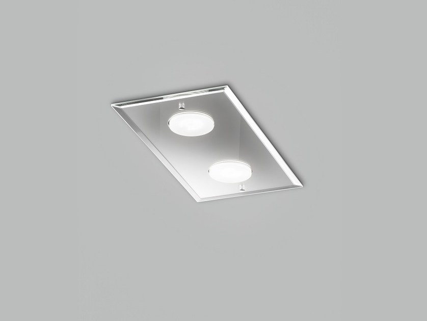 LED glass ceiling lamp DADO L 40 x 20 by Metal Lux