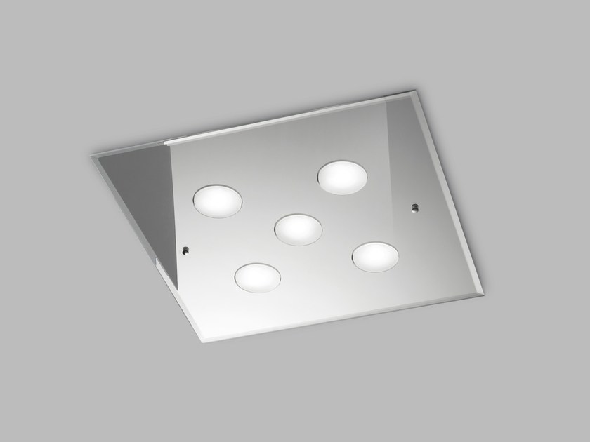 LED glass ceiling lamp DADO L 50 x 50 by Metal Lux