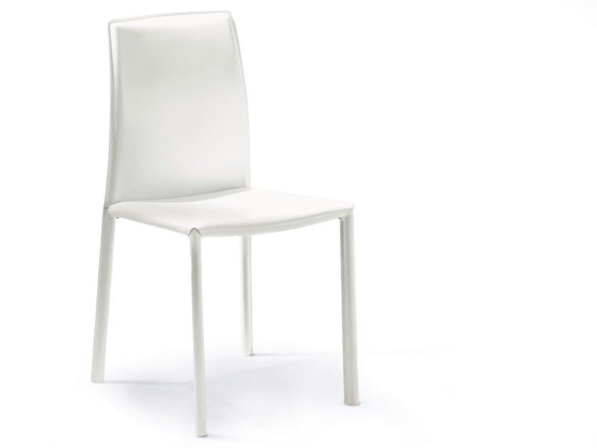 Sedia in cuoio DAFNE - Pacini & Cappellini