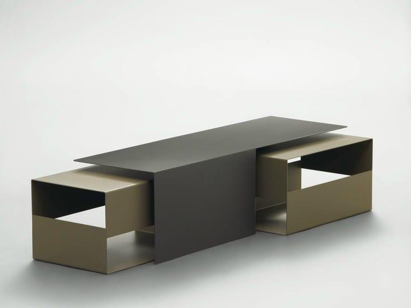 Rectangular plate coffee table DAIQUIRI - da a