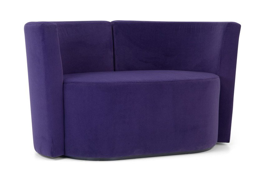 Upholstered 2 seater sofa with removable cover DALT LARGE | 2 seater sofa - Domingo Salotti