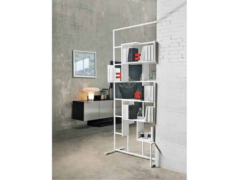 Open freestanding metal bookcase DAMA - Ronda Design