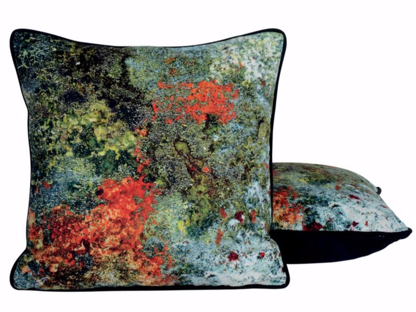 Contemporary style square cushion DAME DE FER by LELIEVRE