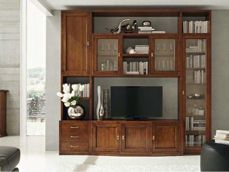 Parete attrezzata in legno massello damigella parete attrezzata devina nais - Parete attrezzata classica prezzi ...