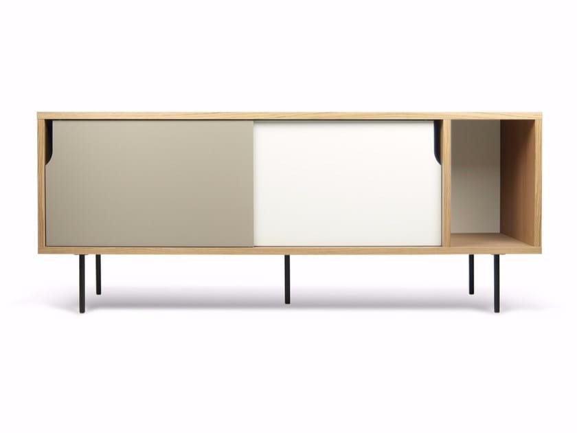 Wood veneer sideboard with sliding doors DANN   Sideboard by TemaHome