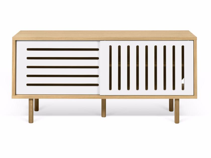Wood veneer TV cabinet DANN STRIPES | TV cabinet by TemaHome