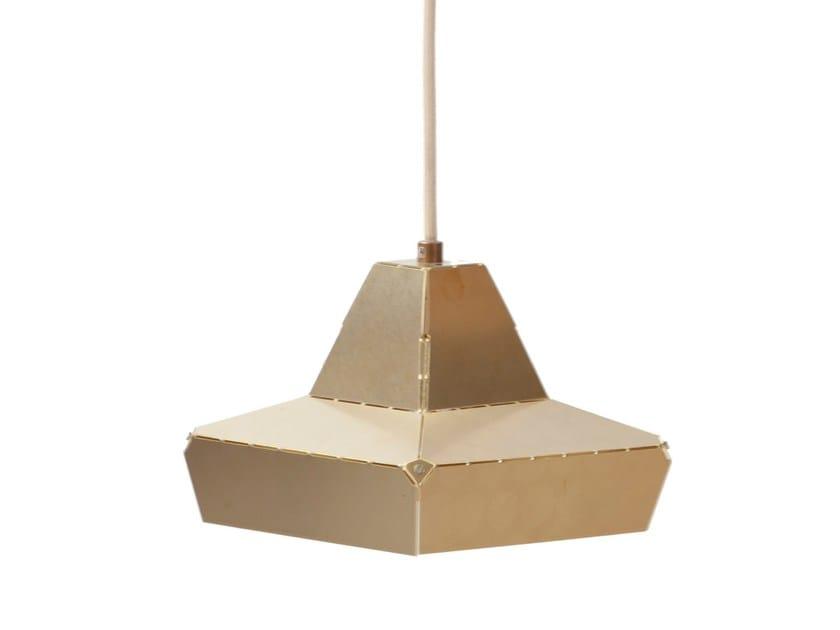 Brass pendant lamp DASHED LIGHT IN BRASS - DL 16 by Vij5
