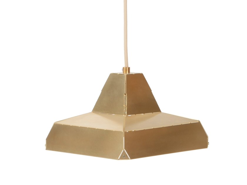 Brass pendant lamp DASHED LIGHT IN BRASS - DL 21 by Vij5