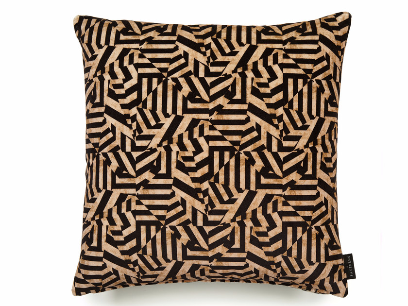 Square cotton cushion with removable cover DAZZLE | Square cushion by 17 patterns