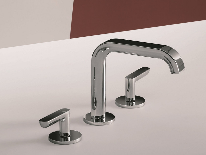 3 hole chromed brass washbasin tap DECO ICONA - Fantini Rubinetti