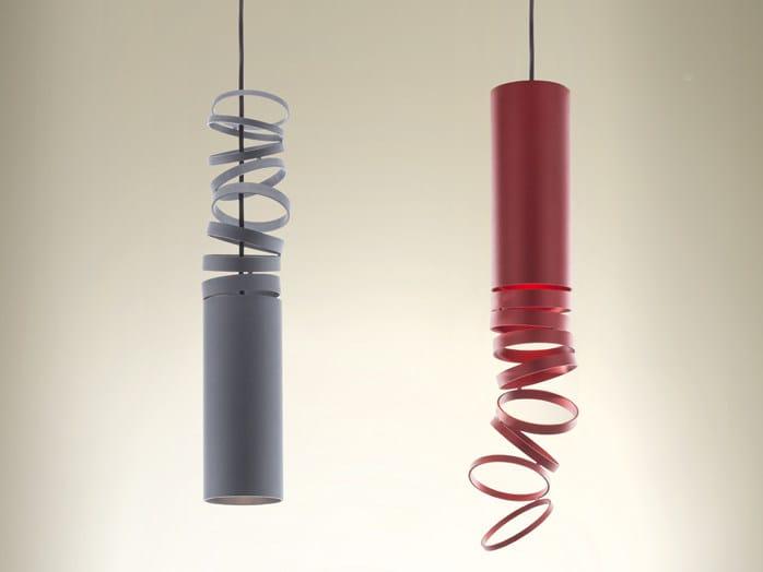 LED direct light Anodized aluminium pendant lamp DECOMPOSÉ LIGHT   Pendant lamp by Artemide