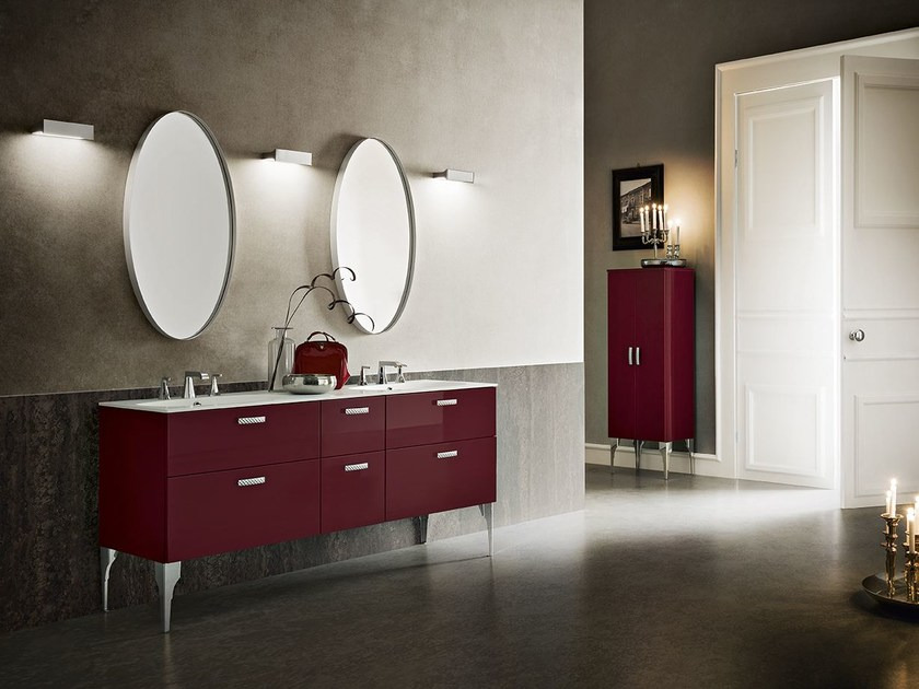 Double lacquered vanity unit DECOR PLAY 94/95 - Cerasa